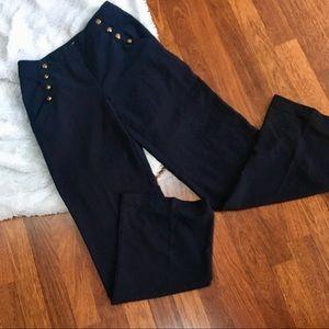 F21 nautical high waisted pants
